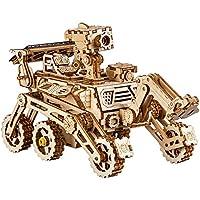 LHYP 3D 木製パズル 機械式 自己組み立て式 太陽エネルギー パワー 探検車 ジグソーパズル 玩具 男の子用 (好奇心の好奇心)
