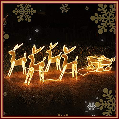 Sea the Stars イルミネーション モチーフライト トナカイ / チューブライト 電飾 クリスマスモチーフ クリスマス (ソリ付きトナカイ4匹)