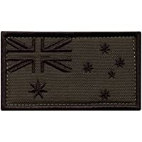 LEGEEON Olive Drab OD Australia Flag Green Morale Tactical Tab Badge Army Gear Embroidery Hook-and-Loop Patch