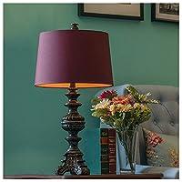 MWNV テーブルランプの寝室のベッドサイドランプロマンチックな結婚式の暖かい結婚式の優雅な居間のランプの装飾のテーブルランプ -827 電気スタンド (色 : 大 だい)