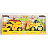 CAT【ランブリングライド ダンプカー&ホイールローダー2台セット】 Rumblin' Ride 2 Pack Dump Truck & Wheel Loader