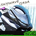 TOPMOST製 SKY WAVE スカイウェイブ スカイウェーブ CJ43A 白ゲル フロント TAKEフェイス マスク 未塗装 外装 パーツ