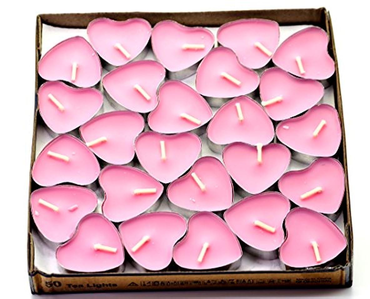 牧師絶滅したダメージ(Pink(rose)) - Creationtop Scented Candles Tea Lights Mini Hearts Home Decor Aroma Candles Set of 50 pcs mini...