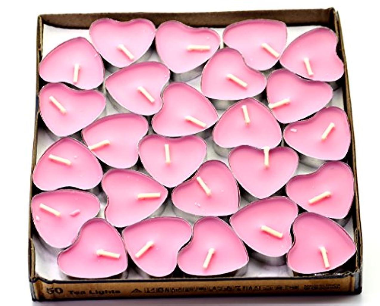 勉強する好奇心ラリーベルモント(Pink(rose)) - Creationtop Scented Candles Tea Lights Mini Hearts Home Decor Aroma Candles Set of 50 pcs mini...