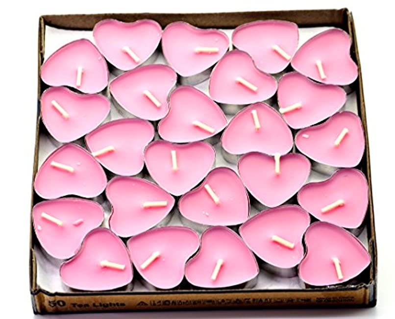 ねばねば複製するスライス(Pink(rose)) - Creationtop Scented Candles Tea Lights Mini Hearts Home Decor Aroma Candles Set of 50 pcs mini...