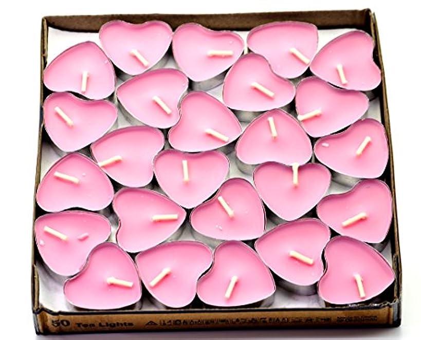広々とした不一致世辞(Pink(rose)) - Creationtop Scented Candles Tea Lights Mini Hearts Home Decor Aroma Candles Set of 50 pcs mini...