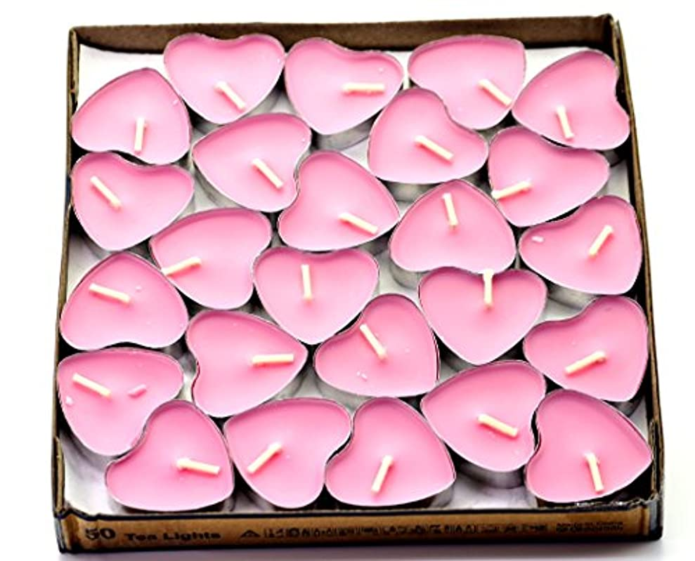 みがきますこどもの宮殿清める(Pink(rose)) - Creationtop Scented Candles Tea Lights Mini Hearts Home Decor Aroma Candles Set of 50 pcs mini...