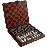 Fityle ヴィンテージ ミニチュア 中国 チェス 木製 ボードゲーム