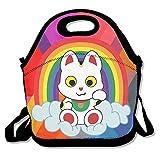 幸運の猫 保冷 弁当袋 ランチバッグ トートバッグ ウトドア 防水 伸縮性 ファスナー付き 折りたたみ式 通勤 学校に適用