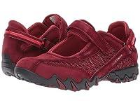 (メフィスト) Mephisto レディースウォーキングシューズ・カジュアルスニーカー・靴 Niro Dark Winter Red Suede/Flyknite US Women's 6.5 n/a M (B) [並行輸入品]