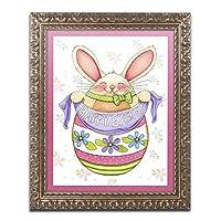Egg Bunny by Jennifer Nilsson、ゴールド装飾フレーム16x 20インチ