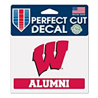 NCAA ウィスコンシン大学 WCR36197014 パーフェクトカットカラーステッカー 4.5インチ x 5.75インチ