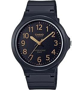 [カシオ]CASIO 腕時計 スタンダード アナログウォッチ ワイドフェイス ブラック×ゴールド 国内メーカー保証付き MW-240-1B2JF