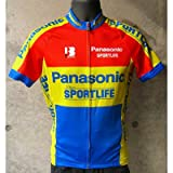B・EMME Panasonic Sportlife SS Jersey レッド/イエロー S(AB12B-PANA-S)