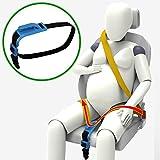 ZUWIT バンプベルト、妊婦用シートベルトの緒節装置、母のおなかに快適で安全、胎児を守る、妊婦を予定している母に必要 (ブルー)