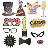 BESTOYARD 24pcs 新年あけましておめでとうございますフォトブースの小道具 2019セルフー写真の小道具 新年のイブパーティーの好意