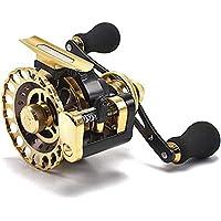 カセ釣り 筏リール ヘチ釣り 2.6:1 10BB ゴールド 左巻き 落とし込み 筏用片軸リール タイコリール レベルワインダー付き