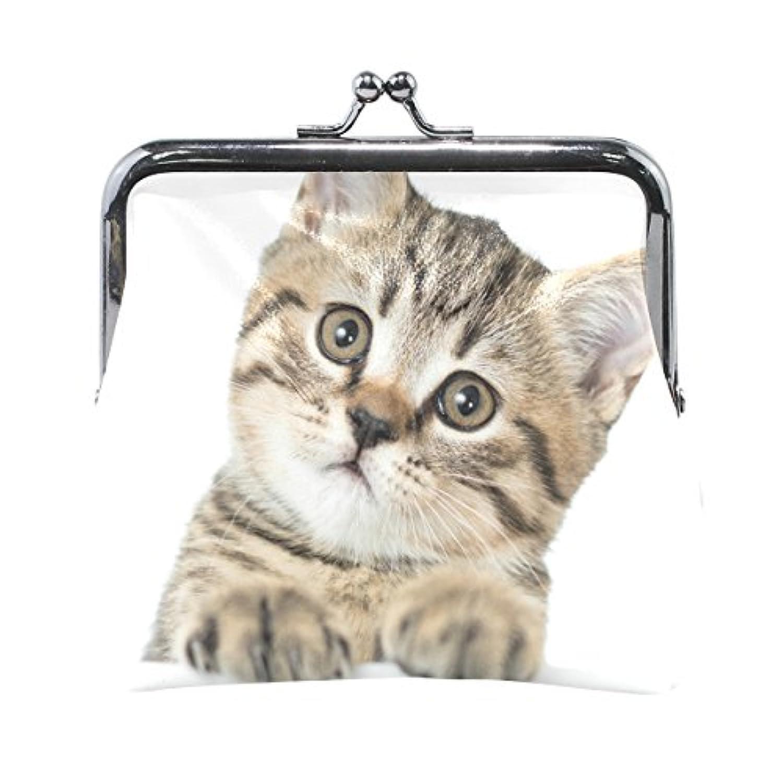VAWA 小銭入れ レディース がま口 財布 猫柄 ネコ 可愛い かわいい コインケース 革 レザー カード収納 お札 柔らかい プレゼント用