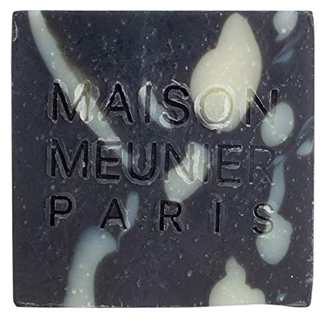 仮定人里離れた読むMaison Meunier - ナチュラルチャコールクレンジングバー - ラベンダーとティーツリー