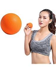 Zafina マッサージボール トリガーポイント ストレッチボール 筋膜球 筋膜リリース 指圧ボール 首から足裏まで全身に使える 血液循環 エクササイズグッズ 1個入り