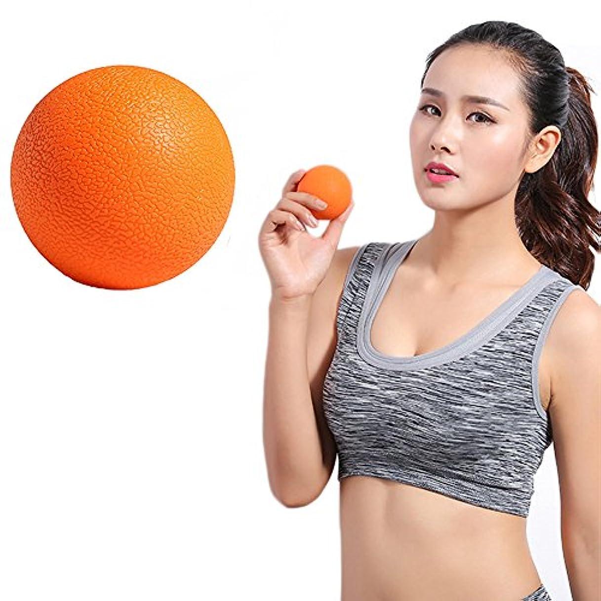 Zafina マッサージボール トリガーポイント ストレッチボール 筋膜球 筋膜リリース 指圧ボール 首から足裏まで全身に使える 血液循環 エクササイズグッズ 1個入り (オレンジ)