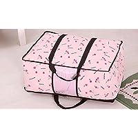 WTL かご?バスケット 不織布バッグの袋を引き上げる (色 : Pink cherry, サイズ さいず : King size)