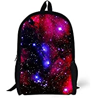 School Backpack For Kids Colorful Pretty Girls Galaxy Printing School Bag