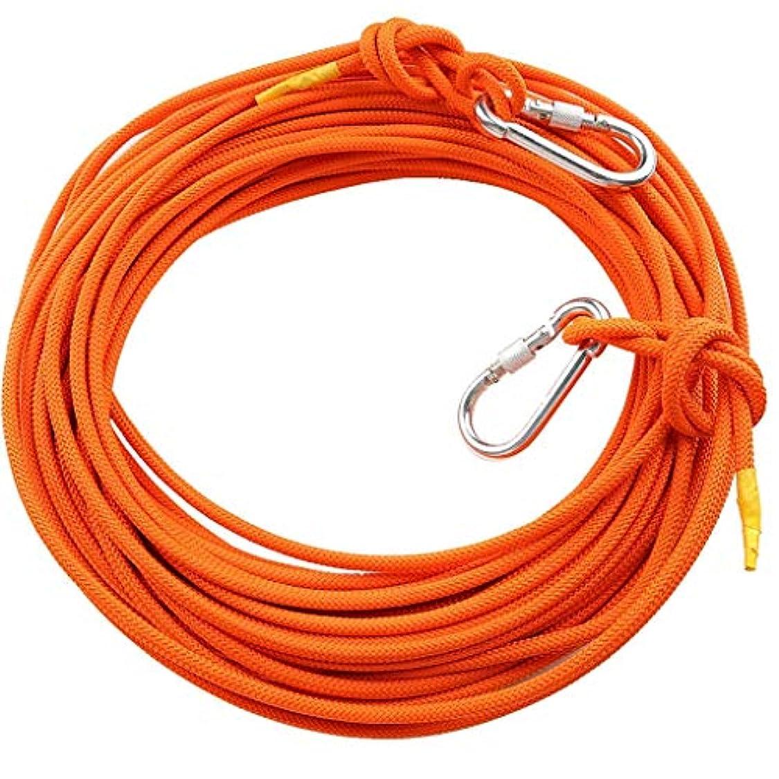 殺すメンダシティ粘着性ロープアウトドアクライミングロープ、8ミリメートルセーフティロープクライミングロープロープクライミングロープナイロンロープ脱出装置、100メートル/ 90メートル/ 80メートル/ 70メートル/ 60メートル/ 50メートル/ 40メートル/ 30メートル/ 20メートル/ 15メートル/ 10メートル(サイズ:8ミリメートル - 10メートル)