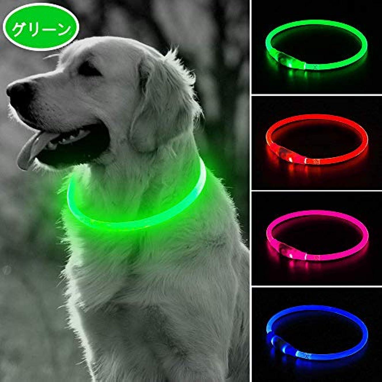 インシデント慈善石膏LED光る首輪,交換可能なバッテリーで駆動 [500m先から目視可能] ペット 夜間 安全性 [3種類のライトモードを搭載] 防水 スモール ミディアム ラージ [複数色ご用意]