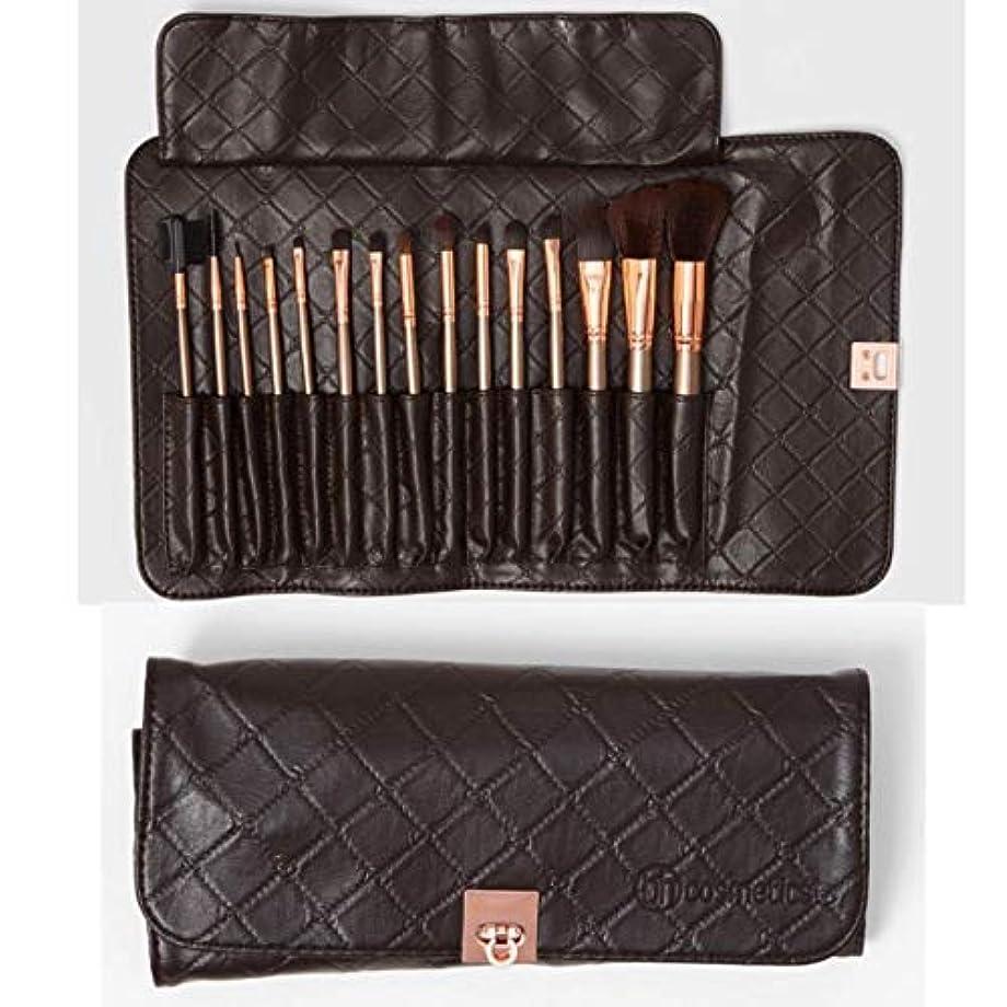 社会科浴室アブストラクトBH Cosmetics 15 Piece Rose Gold Brush Set [並行輸入品]