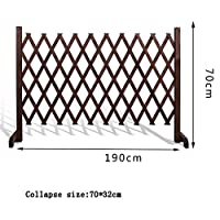 フラワースタンド フェンス、木製フェンスグリッド装飾伸縮ガードレール屋外ガーデンフェンスペットフェンス (Color : A)
