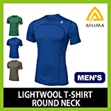 アクリマ ライトウールTシャツ メンズ M 1.ダズリングブルー