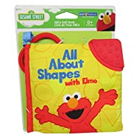 Kids Preferred Sesame Street All about Shapes with Elmo Soft Book Plush Toy Figure [並行輸入品]