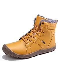 Schuhchan アウトドアシューズ メンズ スノーシューズ 防水 トレッキングシューズ スノーブーツ 防寒 防滑 ウォーキングシューズ カジュアル 登山靴