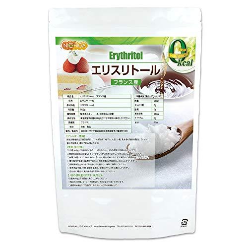 フランス産 エリスリトール 950g 遺伝子組み換え材料不使用 カロリーゼロ 希少糖 糖質制限 天然甘味料 砂糖代替甘味料 [01] NICHIGA(ニチガ)