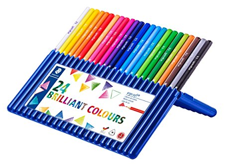 ステッドラー 色鉛筆 エルゴソフト  157SB24 三角軸 24色