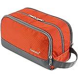 Gonex トイレタリーバッグ 三層構造 化粧ポーチ 防水 トラベルポーチ バッグインバッグ 洗面具入れ 旅行/出張 (オレンジ)
