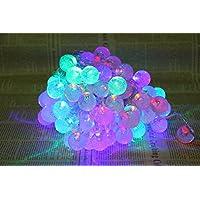5M 50球 LED イルミネーション ライト 乾電池式 LED 水晶球 ストリング クリスマス 祝日飾り、イベントなどに適切 電飾 (RGB)