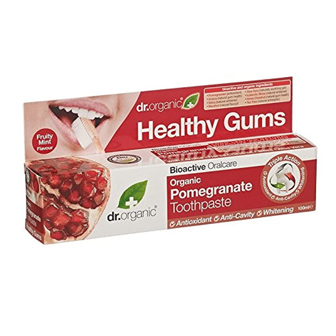 その間特派員責任者Dr有機ザクロ歯磨き粉 - Dr Organic Pomegranate Toothpaste (Dr Organic) [並行輸入品]
