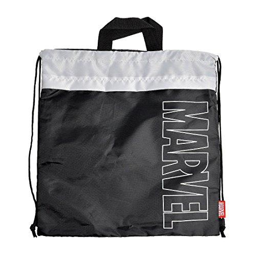 ナップサック子供巾着MARVELマーベル男の子女の子大きめサイズ袋バッグジムサック巾着袋おしゃれかっこいいナイロン体操服