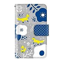 北欧 キツネ フクロウ(手帳型)【02.キツネ・グレー】/ iPhone8 手帳型ケース カバー アイフォン