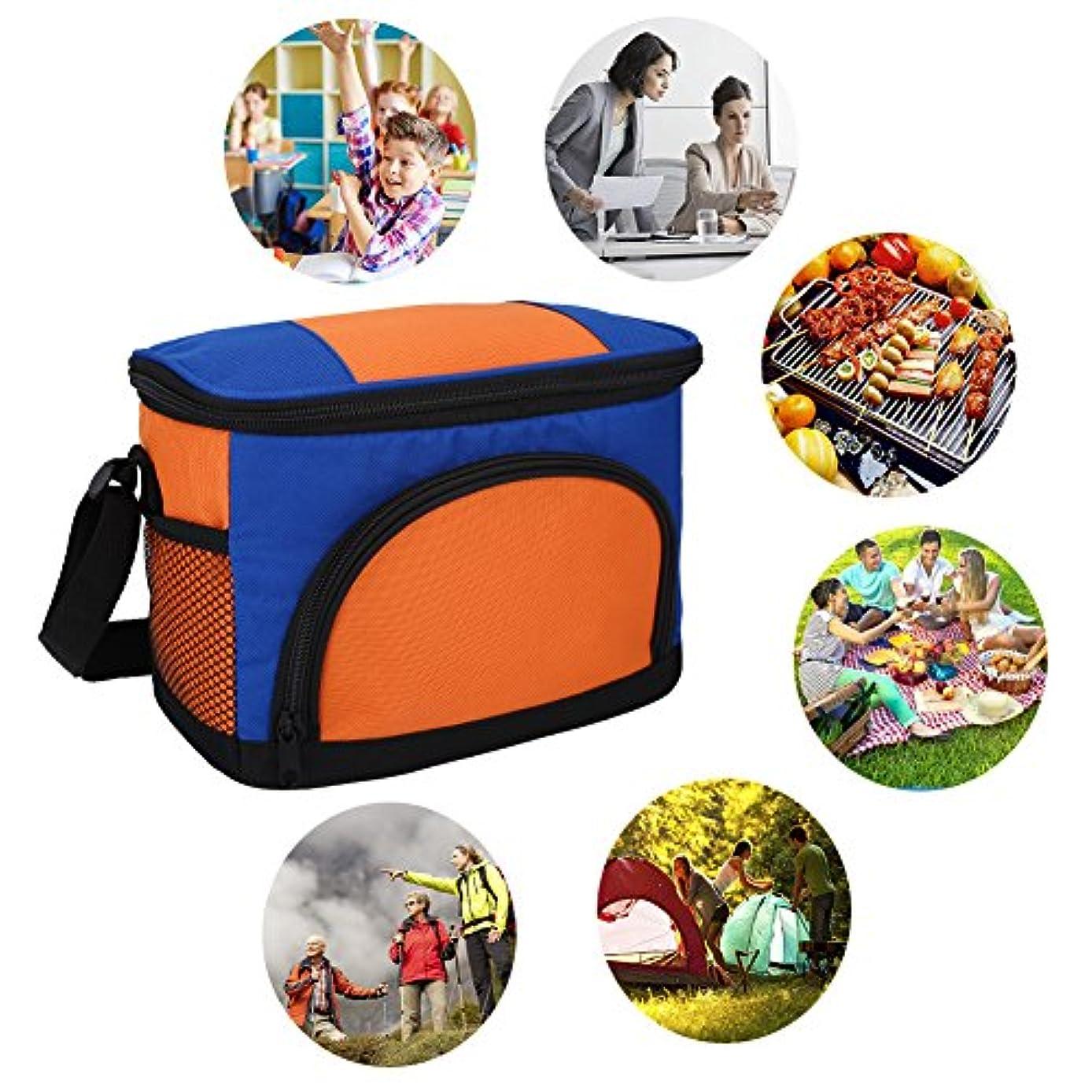 レギュラー立ち向かう屋外ファッショナブルな多機能ピクニックランチ熱ボックス再利用可能な学校のストレージバッグ(橙色)