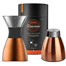 Asobu PO300COPPER/BLACK 9.37 Inch Pour Over - Copper/Black, 32 oz.