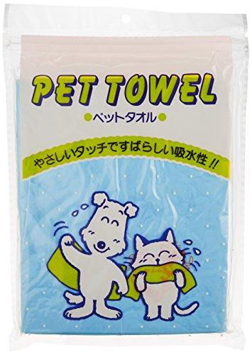 日理 ペット用タオル ブルー