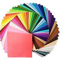 Airyus カット フェルト生地 カラー 40色 セット 30 × 30 ㎝ 厚さ 1mm 手芸 ハンドメイド DIY 材料 大判 (30cm×30cm, 40色)