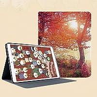 iPad Mini ①/②/③ ケース 超薄型 超軽量 TPU ソフト PUレザー スマートカバー 二つ折り スタンド スマートキーボード対応 キズ防止 ぼんやりとした森の中のぼんやりとした妖精の太陽の梁と秋の葉の絵