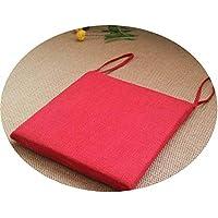 リネンオフィスの畳のクッションマット夏の通気性のシンプルな家庭食卓のクッション,スクエア[取り外し]大きな赤,直径30*30*厚4cm