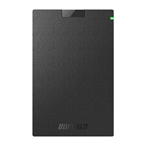 BUFFALO ポータブルSSD 日本製 PS4(メーカー動作確認済) USB3.1(Gen1) 対応 1TB SSD-PG1.0U3-B/NL 耐衝撃・コネクター保護機構
