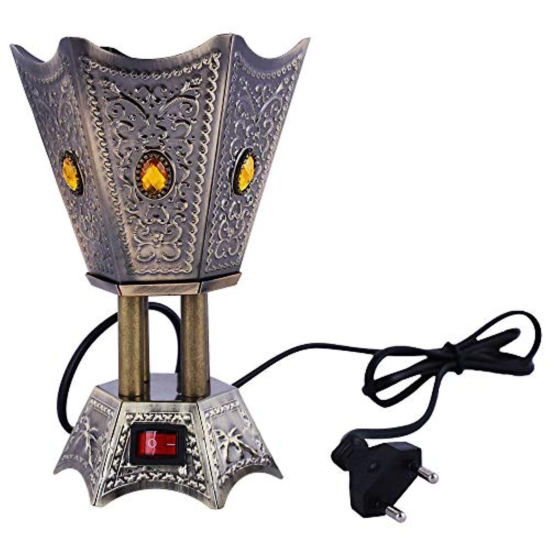衝動しかしながら道Grey Electric Bakhoor Burner Electric Incense Burner Camphor- Oud Resin Frankincense for Diwali Gift Positive Energy IB-23 Grey