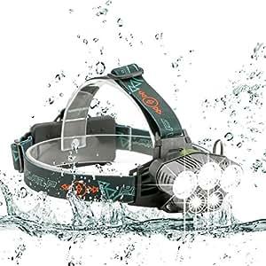 SGODDE LEDヘッドライト 超高輝度10000ルーメン 防水仕様 5段階点灯モード SOSフラッシュ機能